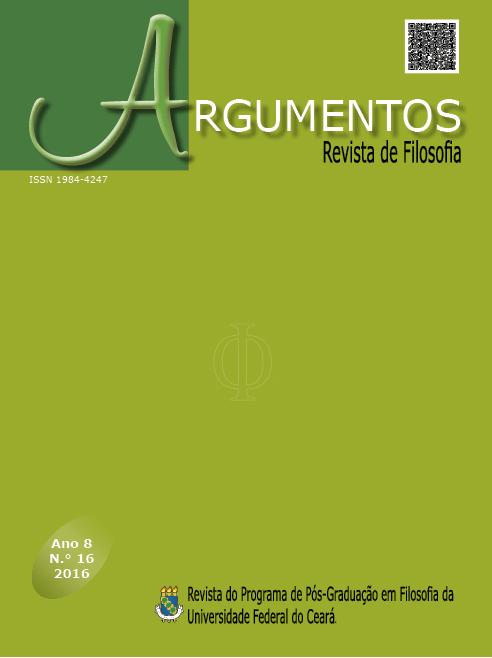 Revista Argumentos da Universidade Federal do Ceará, ano 8 n.º 16 - 2016